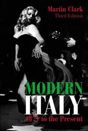 Cover of: Modern Italy, 1871 to the Present