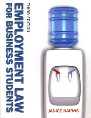 Cover of: Employment Law for Business Students | Janice Nairns