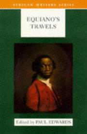 Cover of: Equiano's Travels