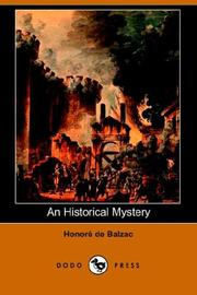 Cover of: An Historical Mystery
