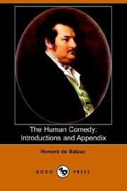 Cover of: The Human Comedy: Introductions And Appendix: Introductions And Appendix