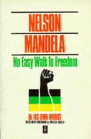 Cover of: No Easy Walk to Freedom | Nelson Mandela