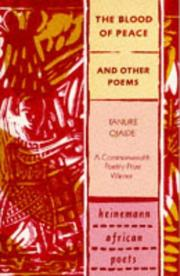Cover of: The Blood of Peace and Other Poems
