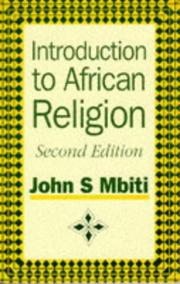 Cover of: Introduction to African religion | Mbiti, John S.