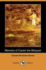 Cover of: Memoirs of Carwin the Biloquist