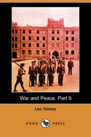Cover of: War and Peace. Part II