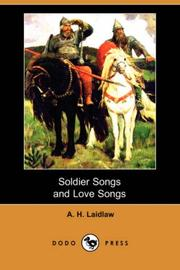Cover of: Soldier songs and love songs
