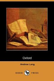 Cover of: Oxford: brief historical and descriptive notes