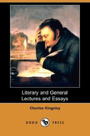 Cover of: Literary and general lectures and essays