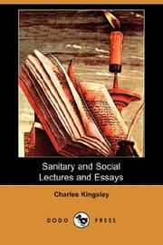 Cover of: Sanitary and Social Lectures and Essays