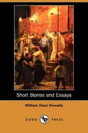 Cover of: Short Stories and Essays