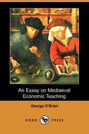 Cover of: An Essay on Mediaeval Economic Teaching