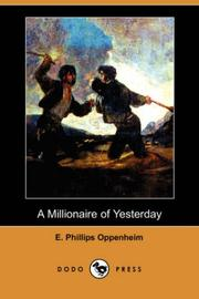 Cover of: A Millionaire of Yesterday