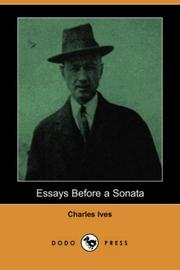 Cover of: Essays Before a Sonata (Dodo Press) | Charles Ives