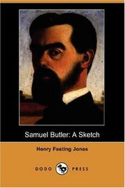 Cover of: Samuel Butler
