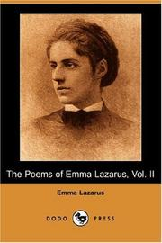 Cover of: The Poems of Emma Lazarus, Vol. II