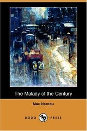 Cover of: The Malady of the Century