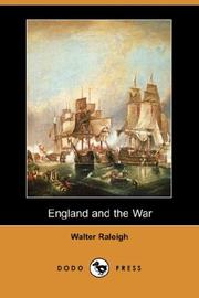 Cover of: England and the War