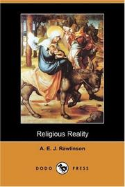 Cover of: Religious Reality