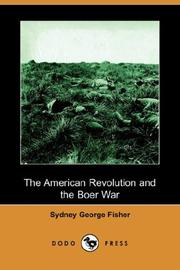 Cover of: The American Revolution and the Boer War