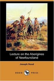 Cover of: Lecture on the Aborigines of Newfoundland