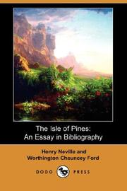 The Isle of Pines by Henry Neville, Worthington Chauncey Ford