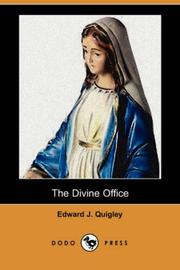 Cover of: The Divine Office