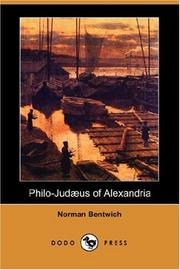 Cover of: Philo-Judaeus of Alexandria