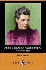 Cover of: Annie Besant