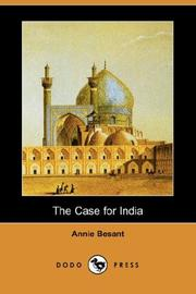 Cover of: The Case for India
