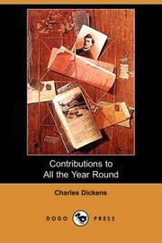 Cover of: Contributions to All the Year Round