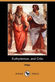 Cover of: Euthydemus, and Crito