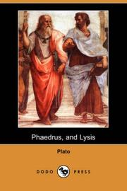 Cover of: Phaedrus, and Lysis