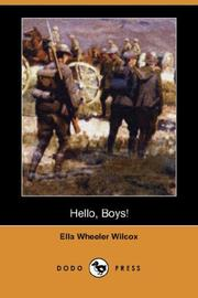 Cover of: Hello Boys!
