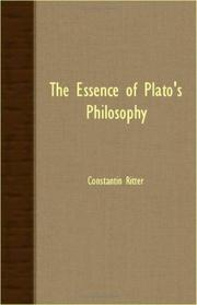 Cover of: The essence of Plato's philosophy
