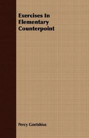 Cover of: Exercises In Elementary Counterpoint