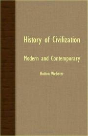 Cover of: History Of Civilization - Modern And Contemporary