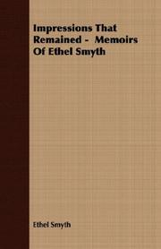 Cover of: Impressions That Remained -  Memoirs Of Ethel Smyth