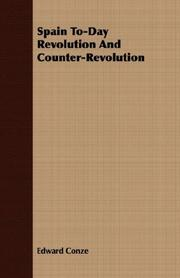 Cover of: Spain To-Day Revolution And Counter-Revolution