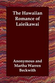 Cover of: The Hawaiian Romance of Laieikawai | Anonymous