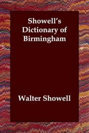 Cover of: Showell's Dictionary of Birmingham
