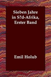 Cover of: Sieben Jahre in Süd-Afrika, Erster Band