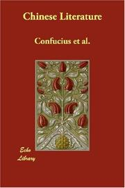 Cover of: Chinese Literature | Confucius et al.