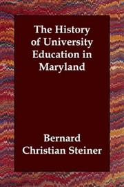 Cover of: The History of University Education in Maryland | Steiner, Bernard Christian