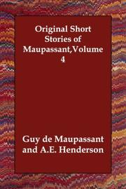 Cover of: Original Short Stories of Maupassant,Volume 4