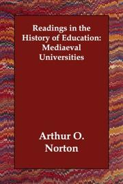 Cover of: Readings in the History of Education