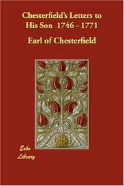 Cover of: Chesterfield's Letters to His Son  1746 - 1771