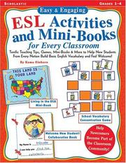 Cover of: Easy & Engaging ESL Activities and Mini-Books for Every Classroom
