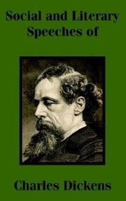 Cover of: Social and Literary Speeches of Charles Dickens | Charles Dickens