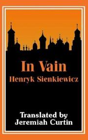 Cover of: In vain: by Henryk Sienkiewicz